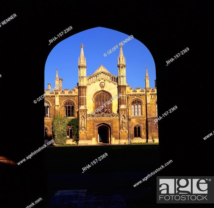 Stock Photo: Pembroke College, Cambridge, Cambridgeshire, England, United Kingdom, Europe.