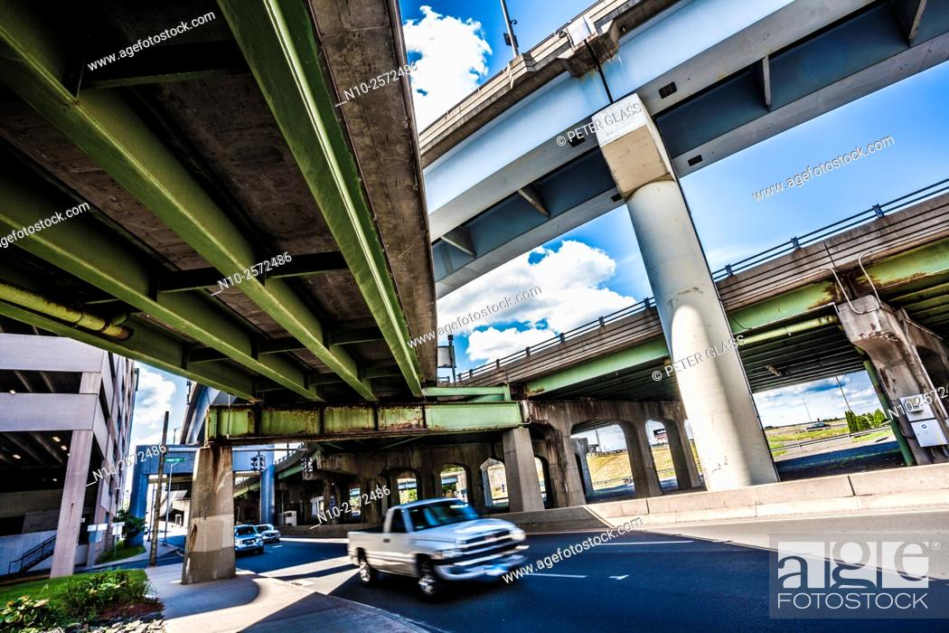 Stock Photo: Highway seen from underneath.