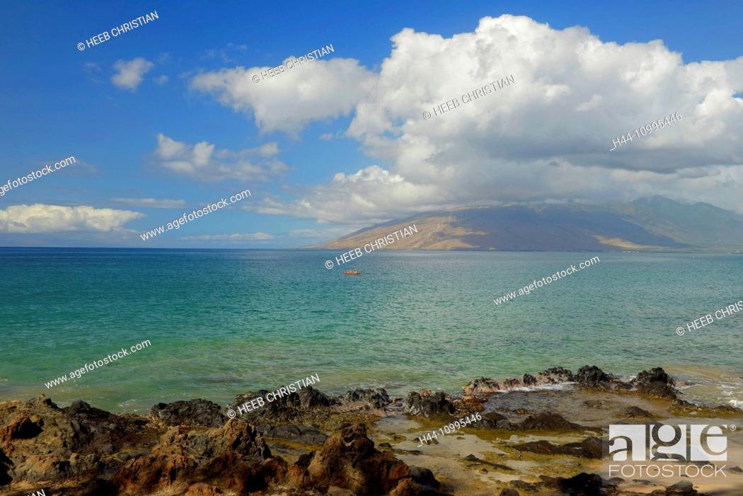 Stock Photo: USA, Vereinigte Staaten, Amerika, Hawaii, Maui, island, Kihei, beach.