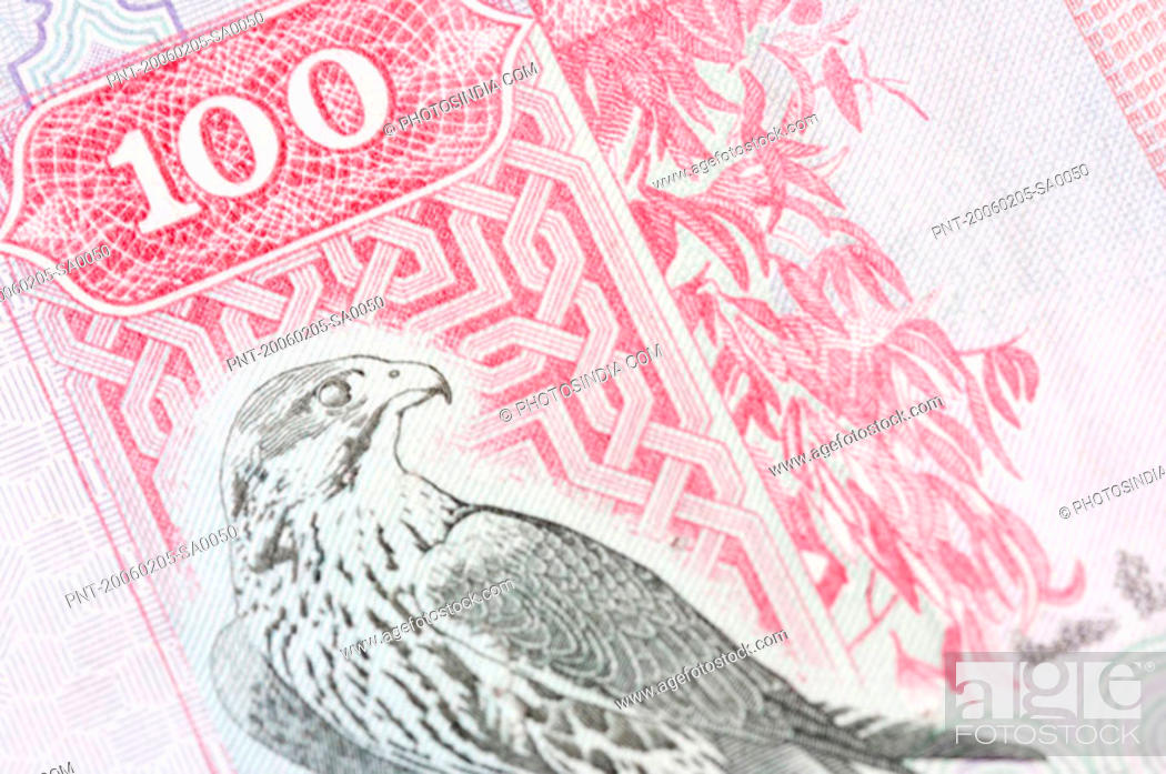 Stock Photo: Close-up of a one hundred Dinar banknote.
