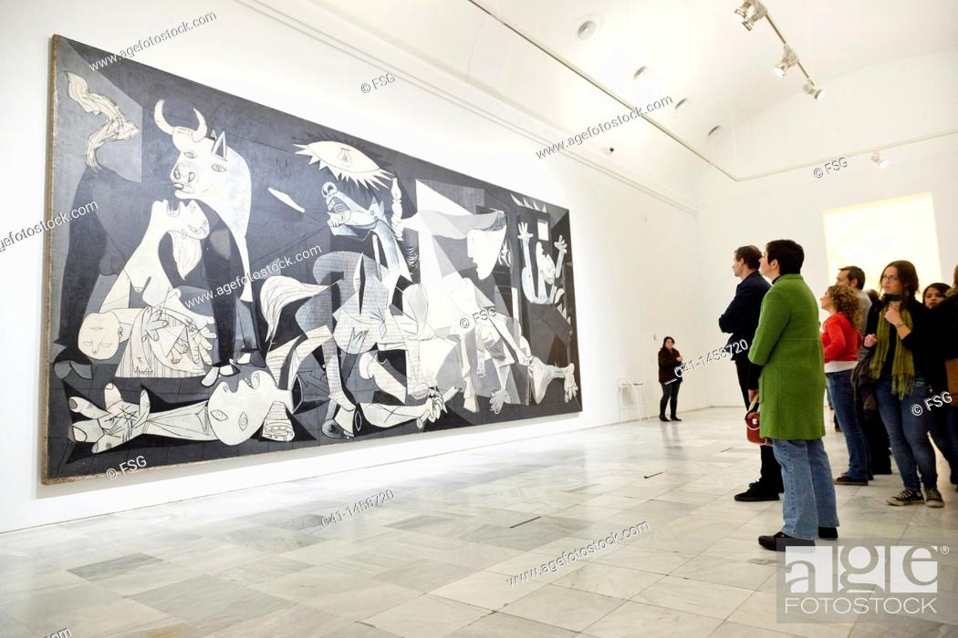 Imagen: The 'Guernica' painting by Picasso, Reina Sofia Museum, Madrid, Spain.