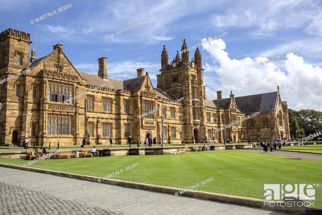 Stock Photo: University of Sydney, australia's first university in Sydney city centre.