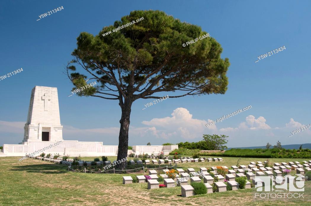 Stock Photo: Lone Pine cemetery on the Gallipoli Peninsula, Turkey.