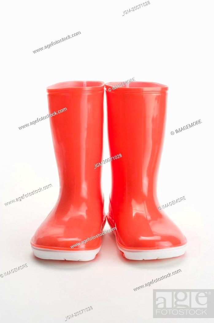 Stock Photo: A pair of rubber boot.