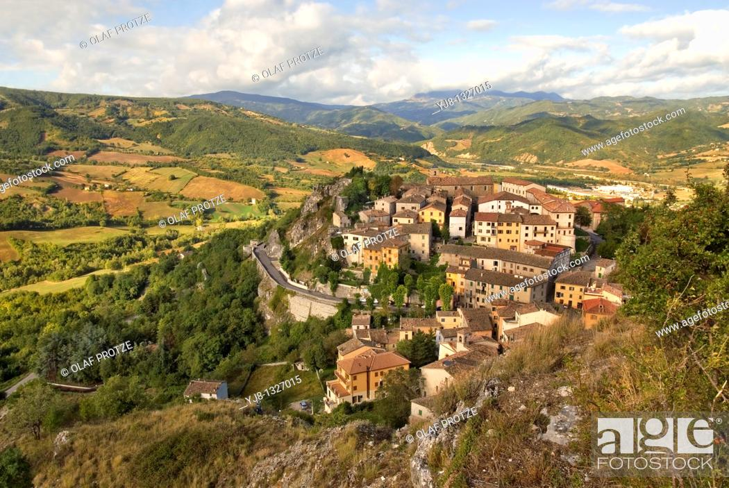 Stock Photo: Pennabilli is a comune municipality in the Province of Rimini in the Italian region Emilia-Romagna, located about 140 km southeast of Bologna and about 45 km.