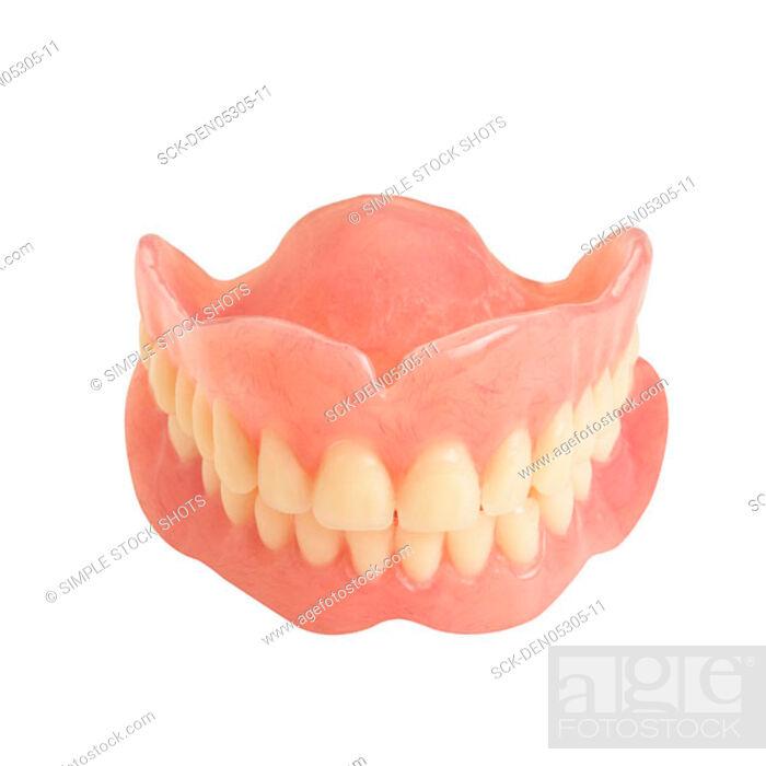 Stock Photo: false teeth.
