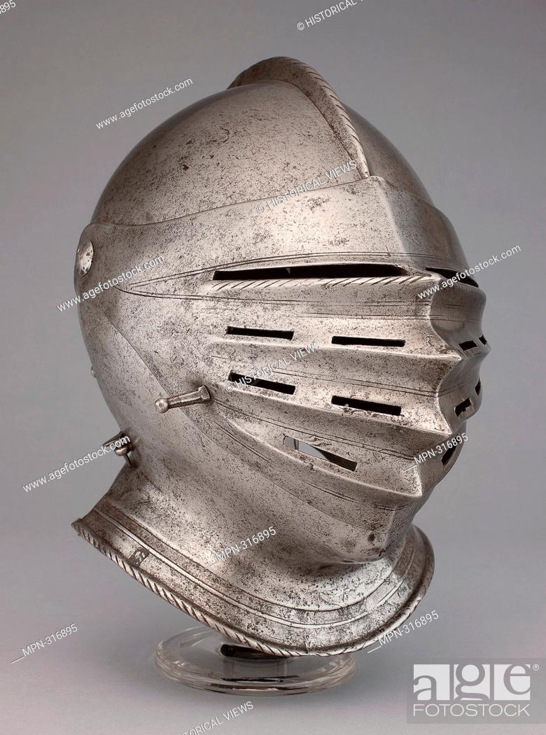 Stock Photo: Close Helmet - About 1530 - Southern German, Nuremberg. Steel. 1520 - 1540.