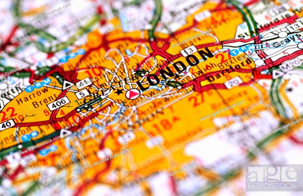Stock Photo: Map of London England.