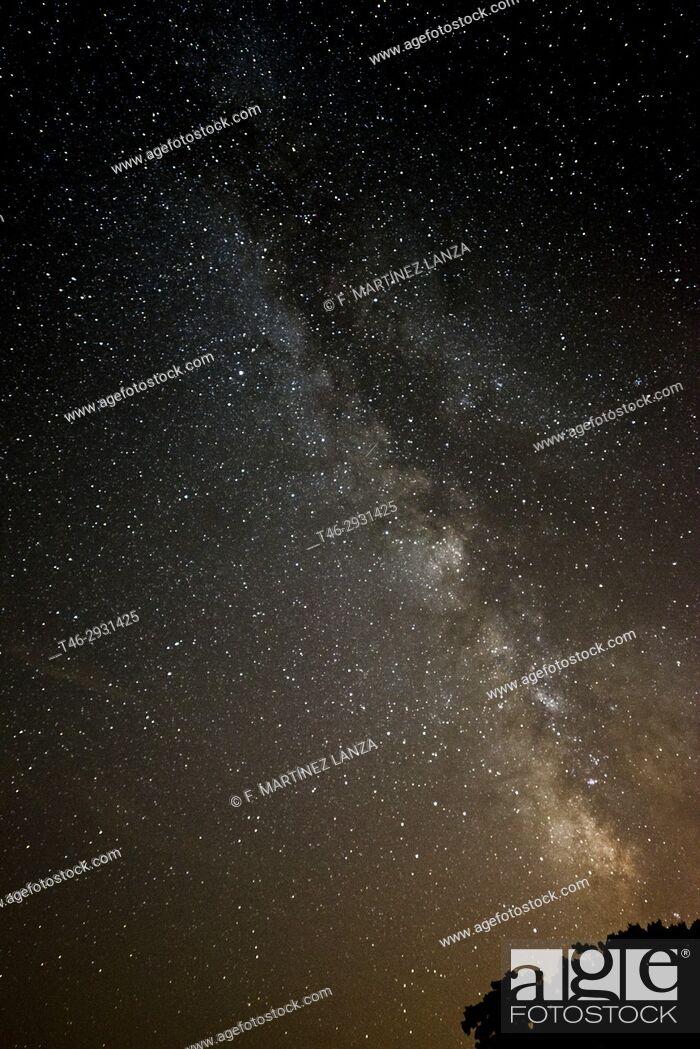 Stock Photo: Milky Way photographed in Brihuega Guadalajara Spain.