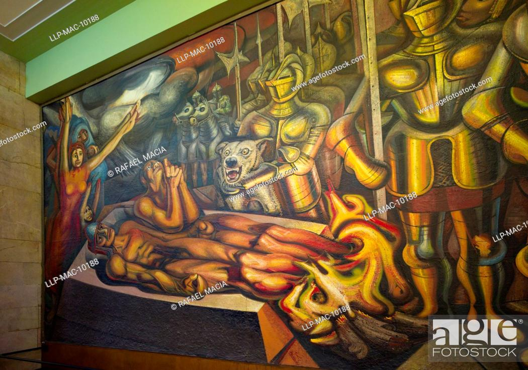 Mexico Mexico City Palacio De Bellas Artes Mural The Torment Of