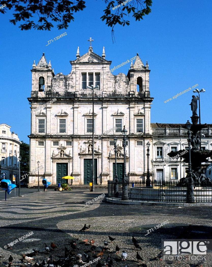 Stock Photo: Brazil, Bahia, Salvador, Praça da Se, Cathedral,.