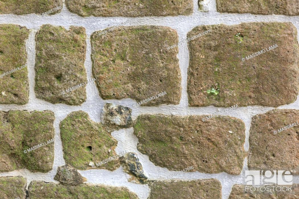 Stock Photo: tecture of old wall in ancient house.