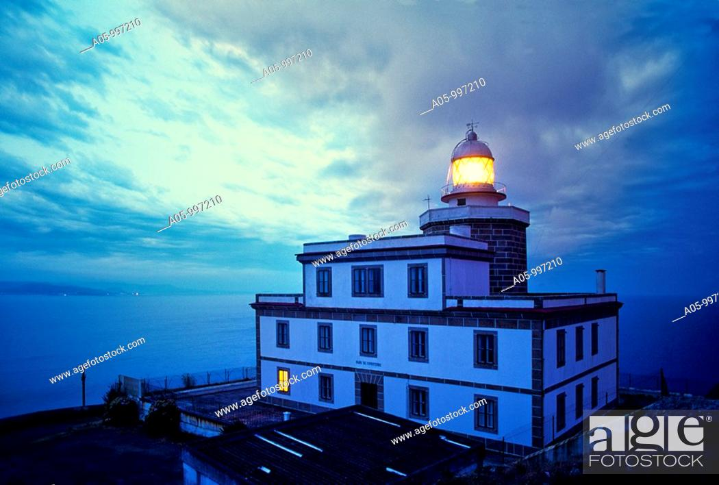 Stock Photo: Lighthouse of Finisterre. Way of St. James. La Couña. Galicia. Spain.
