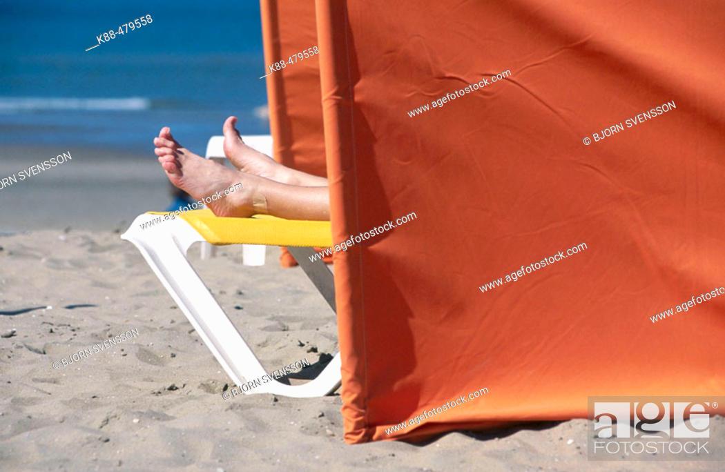 Stock Photo: Beach. Scheveningen, Den Haag, Netherlands.
