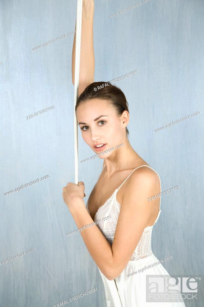 Stock Photo: beautiful young woman.