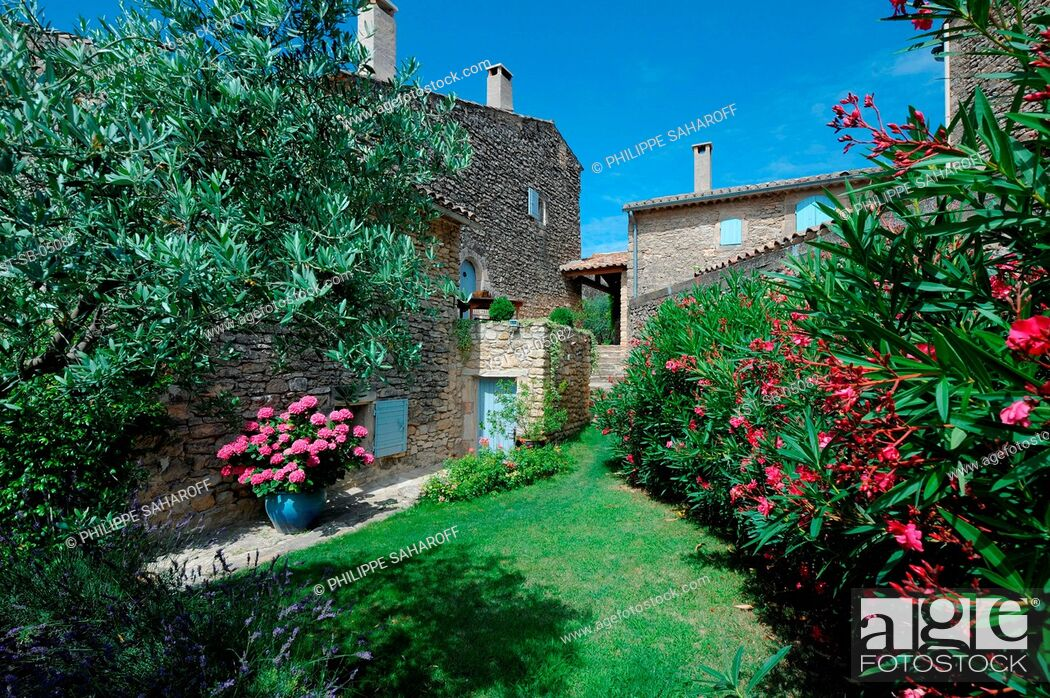 Stock Photo: Old oil mill, hotel, bed and breakfast, Provence, France.