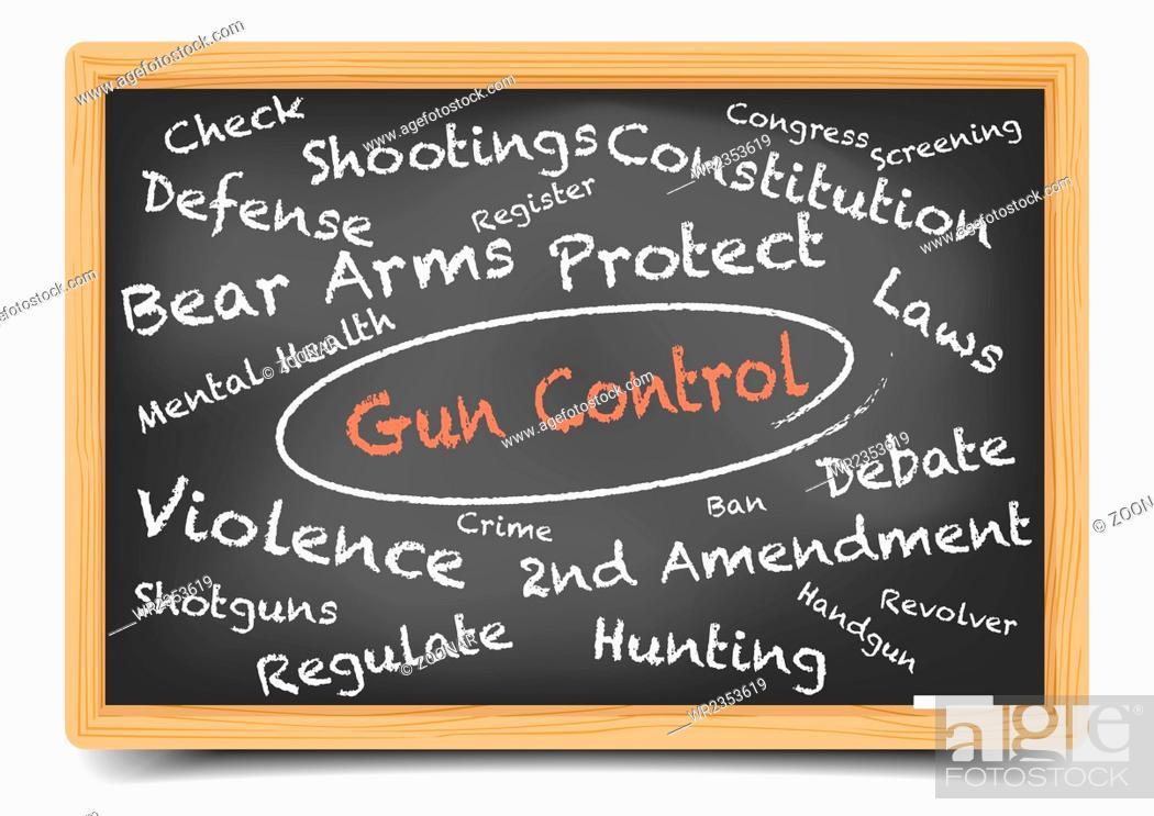 Stock Photo: Wordcloud Gun Control.