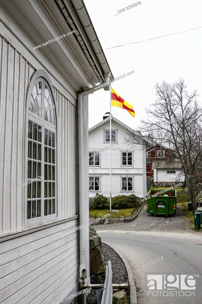 Stock Photo: Stockholm, Sweden The local church in the little hamlet of Dalaro.