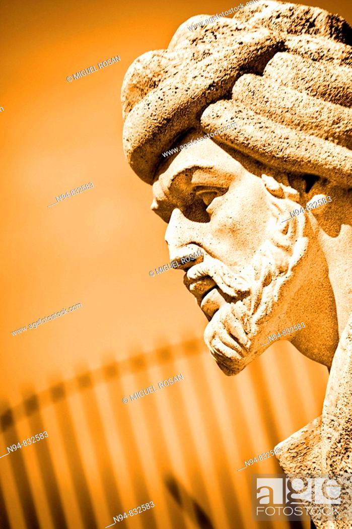 Stock Photo: Monument Averroès. Born in Cordova in 1126 and died in Marrakesh (Morocco) on 10 December 1198. Philosopher and physician of al-Andalus.