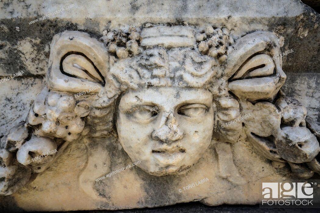 Stock Photo: Sebasteion Figurehead. Aphrodisias. Ancient Greece. Asia Minor. Turkey.