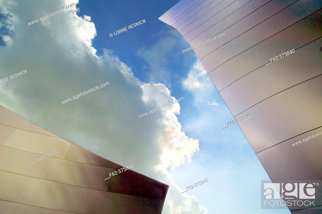 Stock Photo: Walt Disney Concert Hall (1987-2003) by Frank Gehry. Los Angeles. USA.