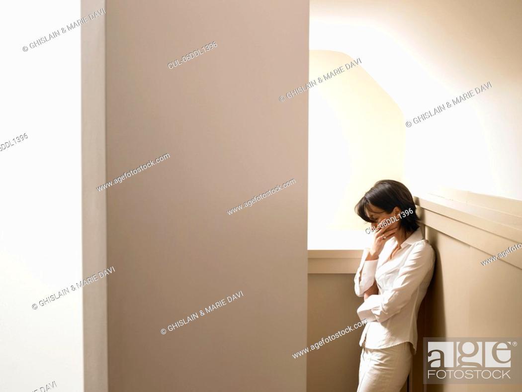 Stock Photo: Woman in a corridor.
