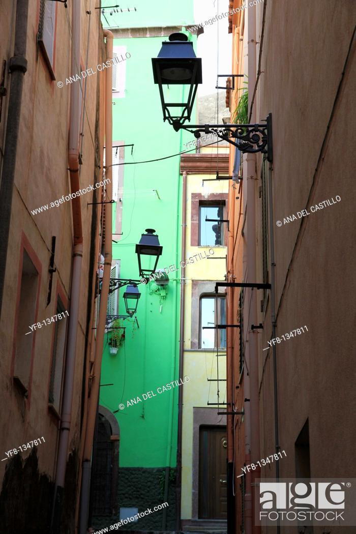 Stock Photo: Bosa village Sardinia Italy.