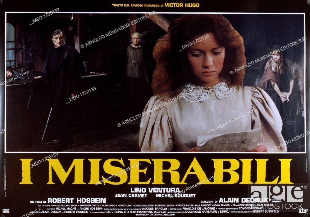 Valentine Bordelet and Lino Ventura in Les misérables