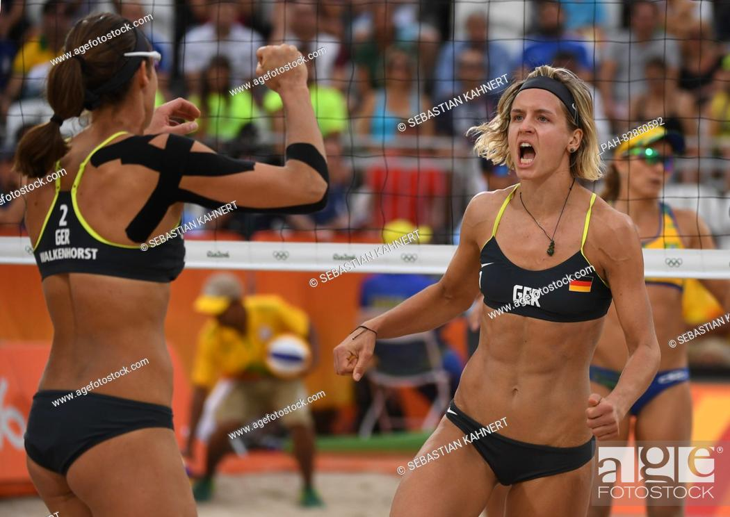Laura Ludwig R And Kira Walkenhorst Of Germany In Action During The Women S Beach Volleyball Stock Photo Picture And Rights Managed Image Pic Pah 82850592 Agefotostock