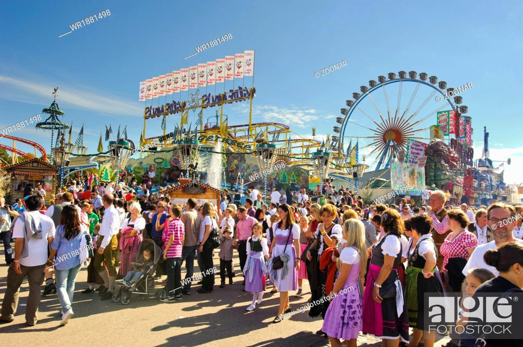 Stock Photo: big wheel at Oktoberfest in Munich.