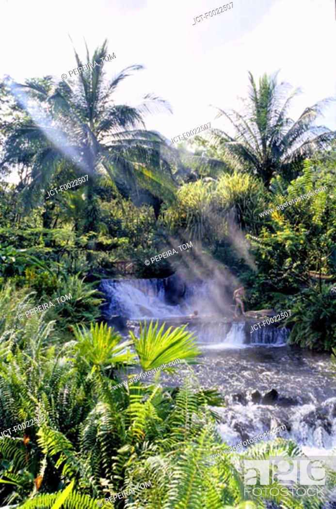 Stock Photo: Costa Rica, Arenal Volcano National Park, Tabacon, hot springs.