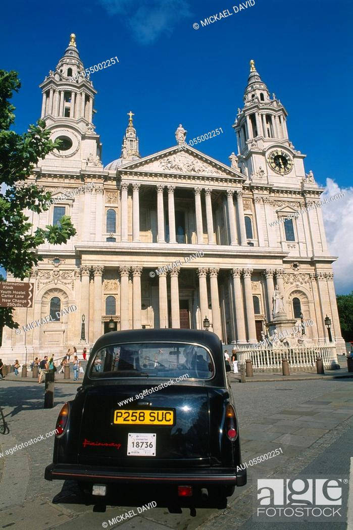 Stock Photo: England - London - The City - St Paul's Cathedral.