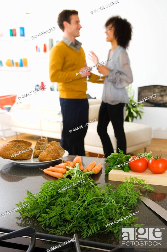 Stock Photo: Food on a kitchen counter.