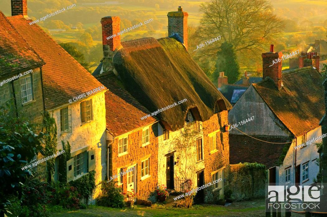 Stock Photo: Gold Hill Shaftsbury Dorest England.