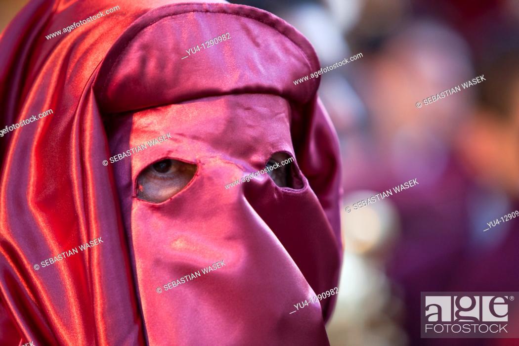 Stock Photo: Semana Santa (Holy Week) celebrations. Malaga. Andalucia. Spain. Europe. 2010.
