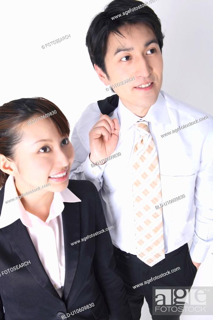Stock Photo: Boss and subordinate.