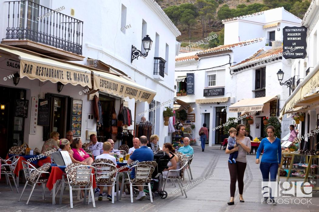 The Old Town Of Mijas Malaga Andalucia Spain Europe