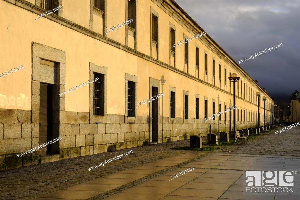 Stock Photo: The Royal Glass Factory of La Granja in Real Sitio de San Ildefonso, province of Segovia.