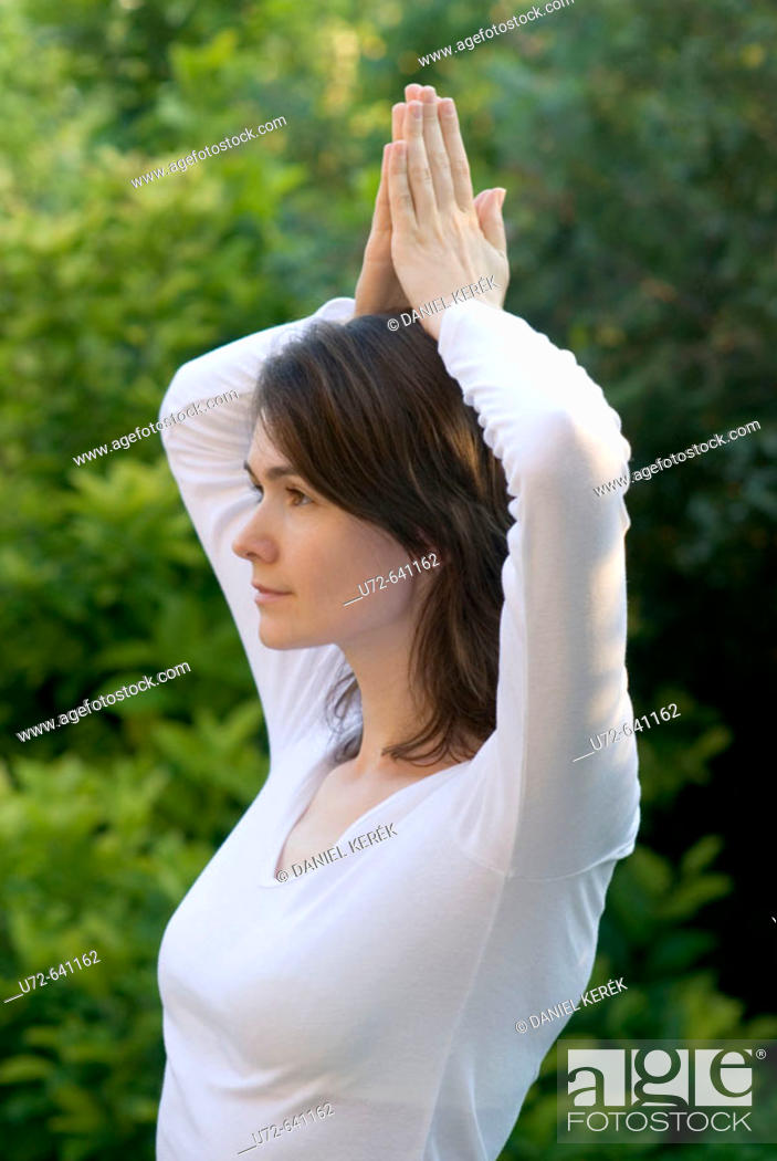 Stock Photo: Young Woman Practicing Yoga.