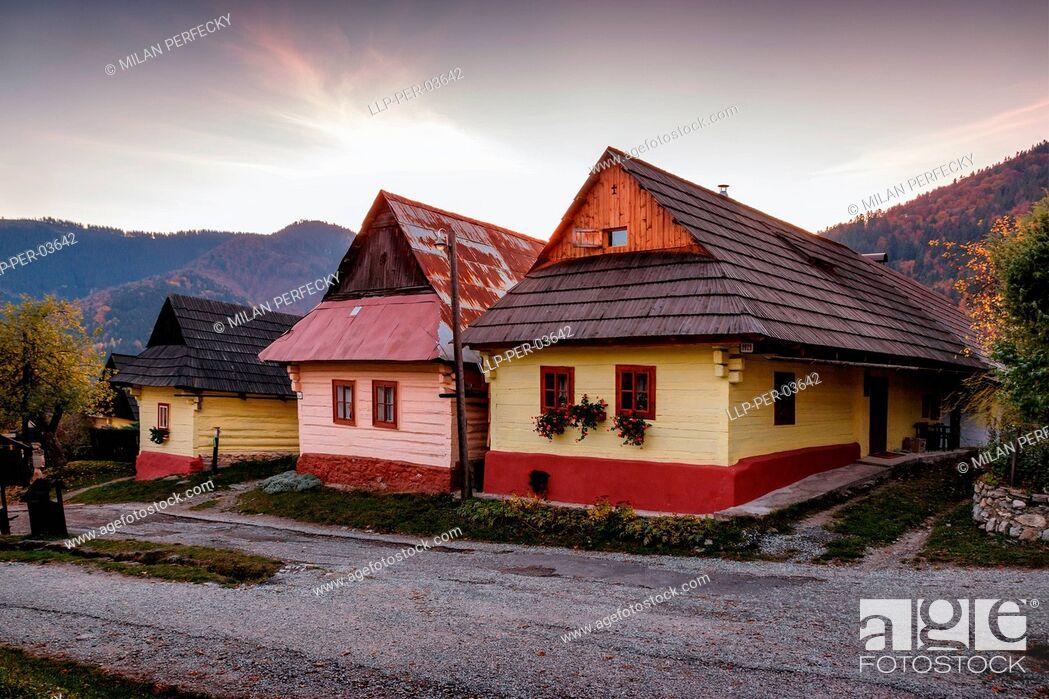 Stock Photo: Vlkolinec, Historical Village, UNESCO, Slovakia.