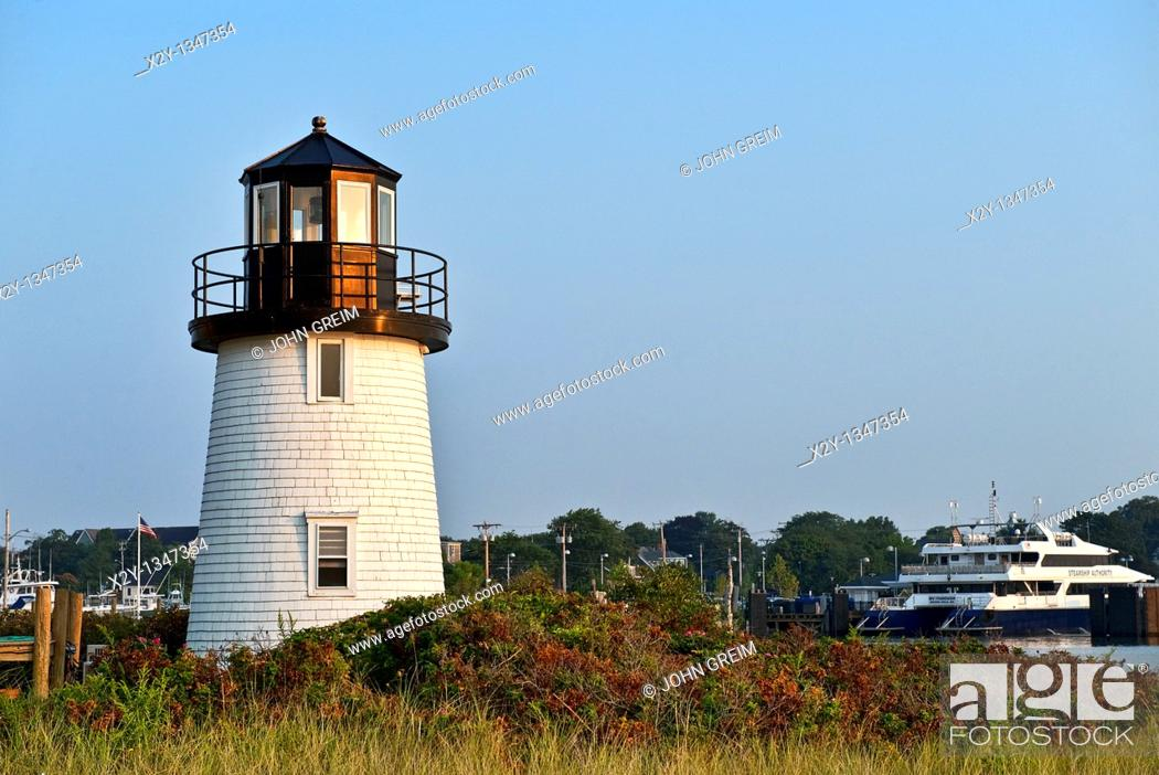 Stock Photo: Hyannis Lighthouse, Hyannis, Cape Cod, MA, USA.