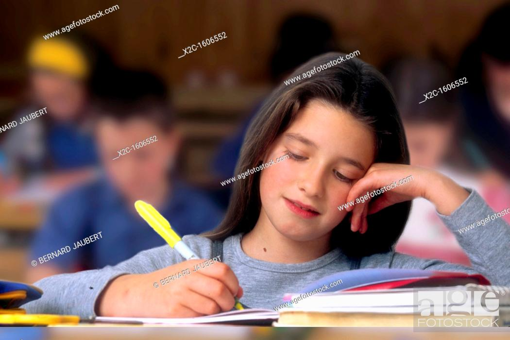 Stock Photo: Girl at school.