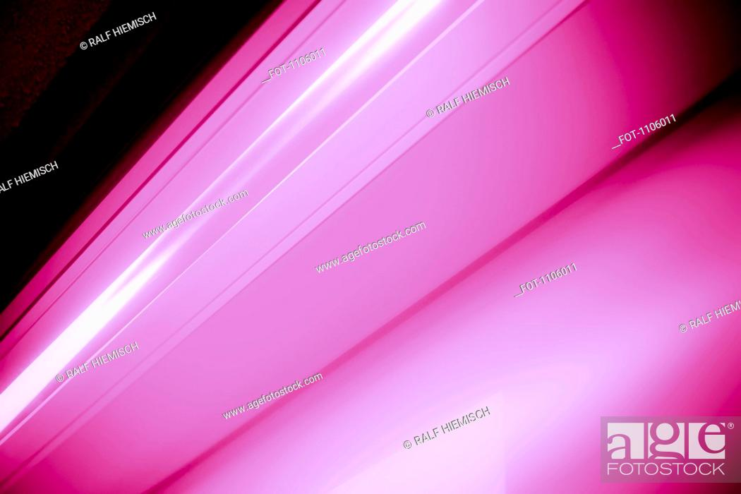 Stock Photo: Close-up abstract of slanted pink shape.