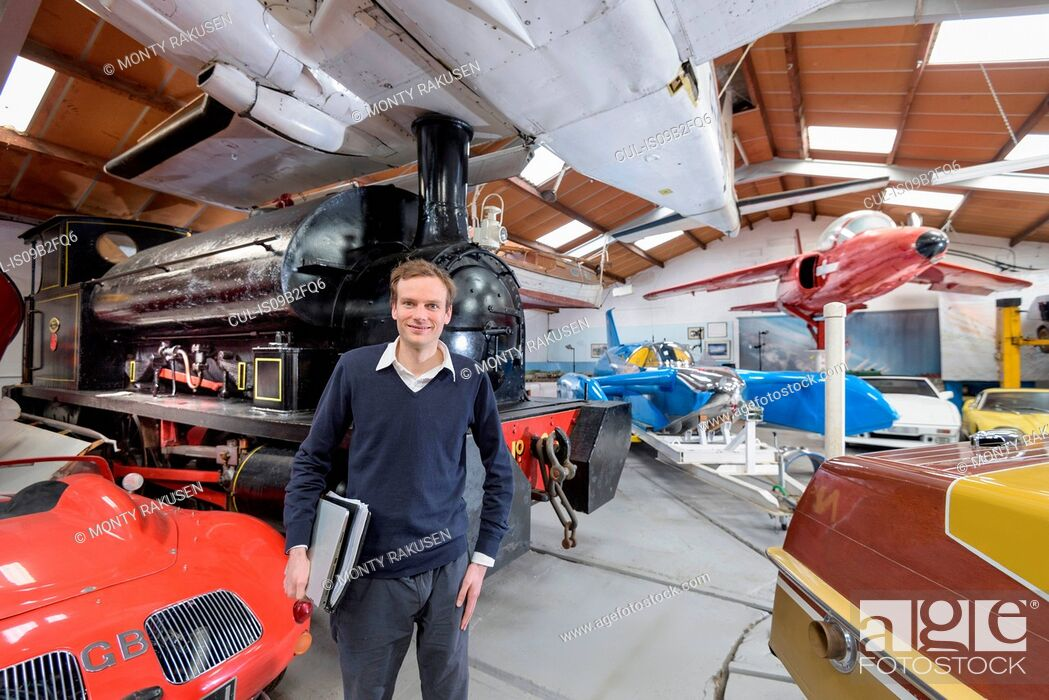 Stock Photo: Portrait of curator of transport museum.