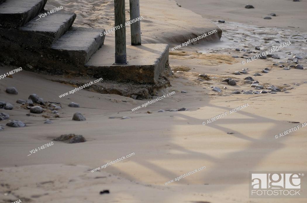 Stock Photo: Stairs to the beach Toró, Llanes, Asturias, Spain.