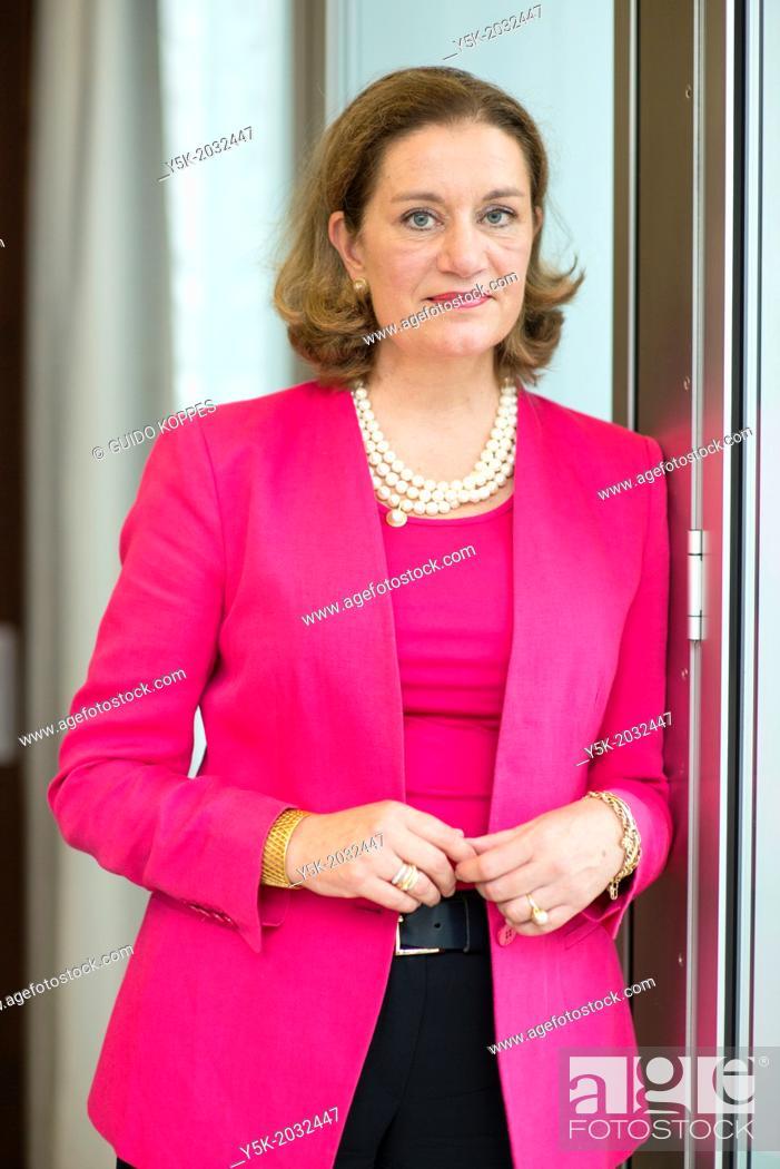 Stock Photo: Klosterstrasse, East-Berlin, Berlin, Germany. Mrs. Monique van Daalen, the Dutch ambassador to Germany. Portrait in her chambers in the embassy.
