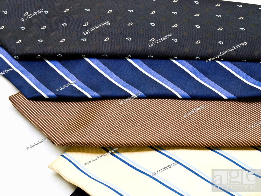 Stock Photo: Colorful ties isolated on white background.