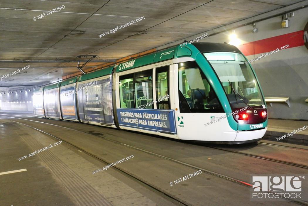 Stock Photo: Tram, Cornella de Llobregat , Barcelona, Spain.