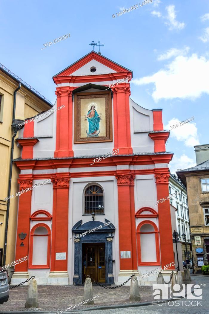 Stock Photo: St John Church / Kosciol Sw Jana / at the Old Town in Krakow, Poland.