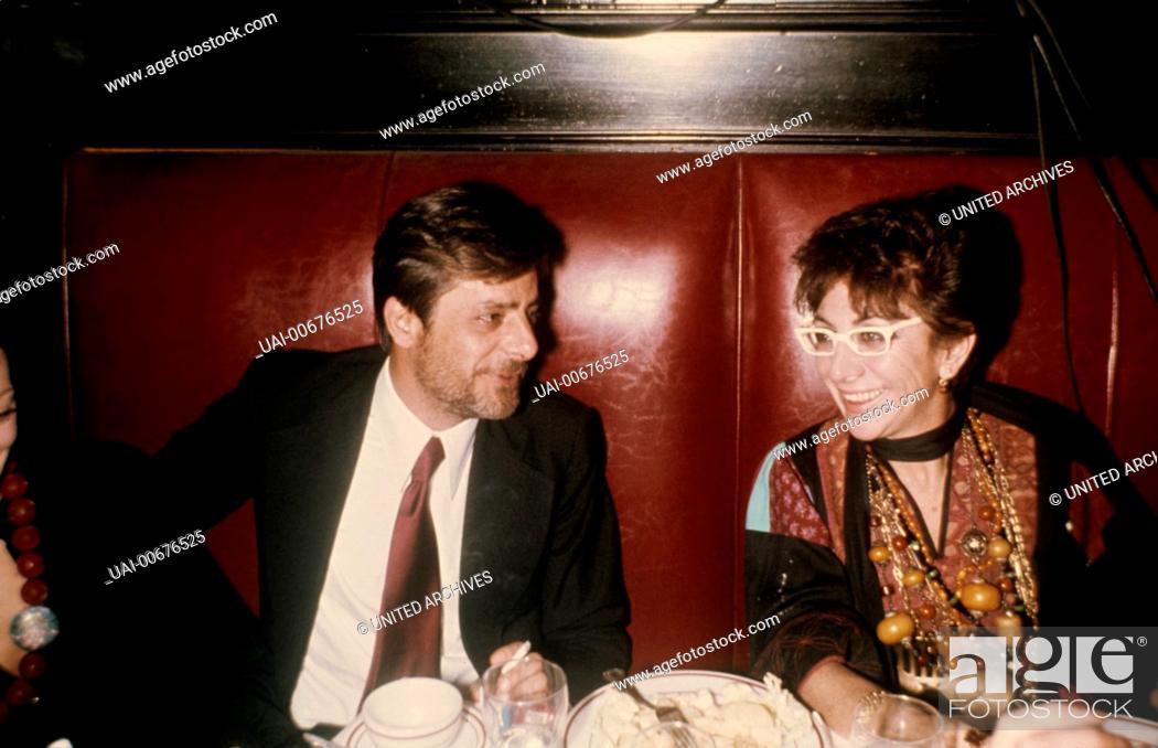 Stock Photo: Italian Actor GIANCARLO GIANNINI with Italian Director LINA WERTMÜLLER (ca. 1976) / LINA WERTMÜLLER.